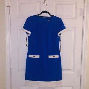 ❤️TOMMY HILFIGER BLUE & WHITE COCKTAIL DRESS NWT❤️